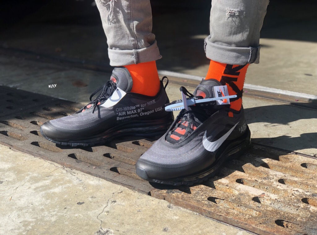 000c43611691 Virgil debuted two new color ways of his Off-White x Nike Air Max 97 during  Paris Fashion Week
