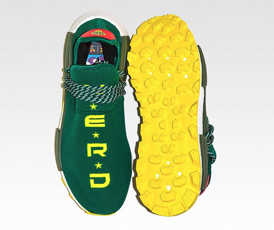 "232b8439e901d7 The Pharrell x BBC x adidas NMD Hu ""NERD"" color way is set to release  Today"