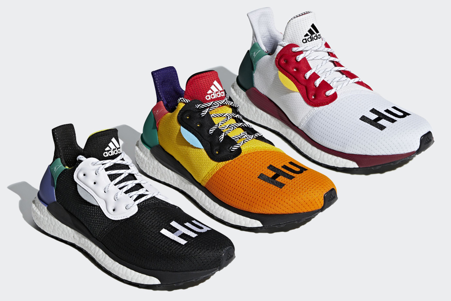 eba32d44e2224 Pharrell Williams and adidas team up for their latest Solar Hu Glide Pack  releasing this September.