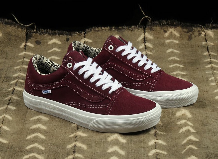f21dac0ea5 The latest Vans Old Skool comes in collaboration with Ray Barbee in his own  signature color way. Featuring a full Burgundy suede upper