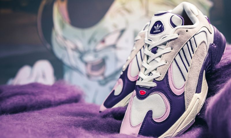 "4aa2b41816b2c Dragon Ball Z x adidas Yung-1 ""Frieza"" Color  Cloud White Unity  Purple-Clear Lilac Style Code  D97048 Release Date  September 29"