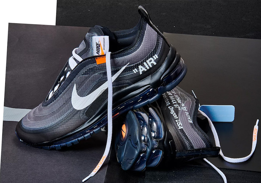 sports shoes f12d8 b8f98 Off-White x Nike Air Max 97. Color BlackCone-Black-White Style Code  AJ4585-001. Release Date October 18, 2018. Price 190