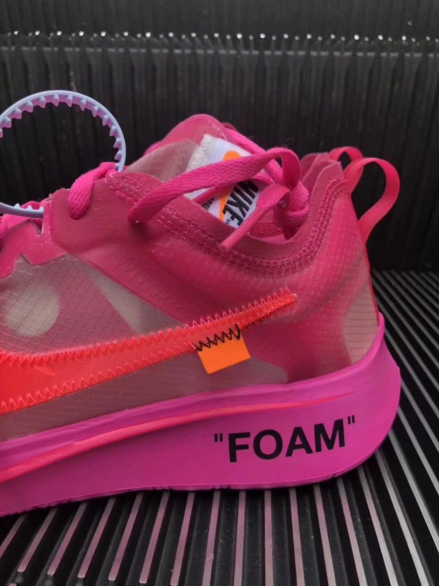 45697b926f3d Off-White x Nike Zoom Fly SP Color  Tulip Pink Racer Pink Style Code   AJ4588-600. Release Date  October 13