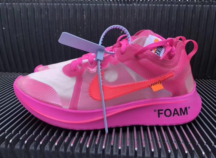 dea687d9eea1 Off-White x Nike Zoom Fly SP Color  Tulip Pink Racer Pink Style Code   AJ4588-600. Release Date  October 13