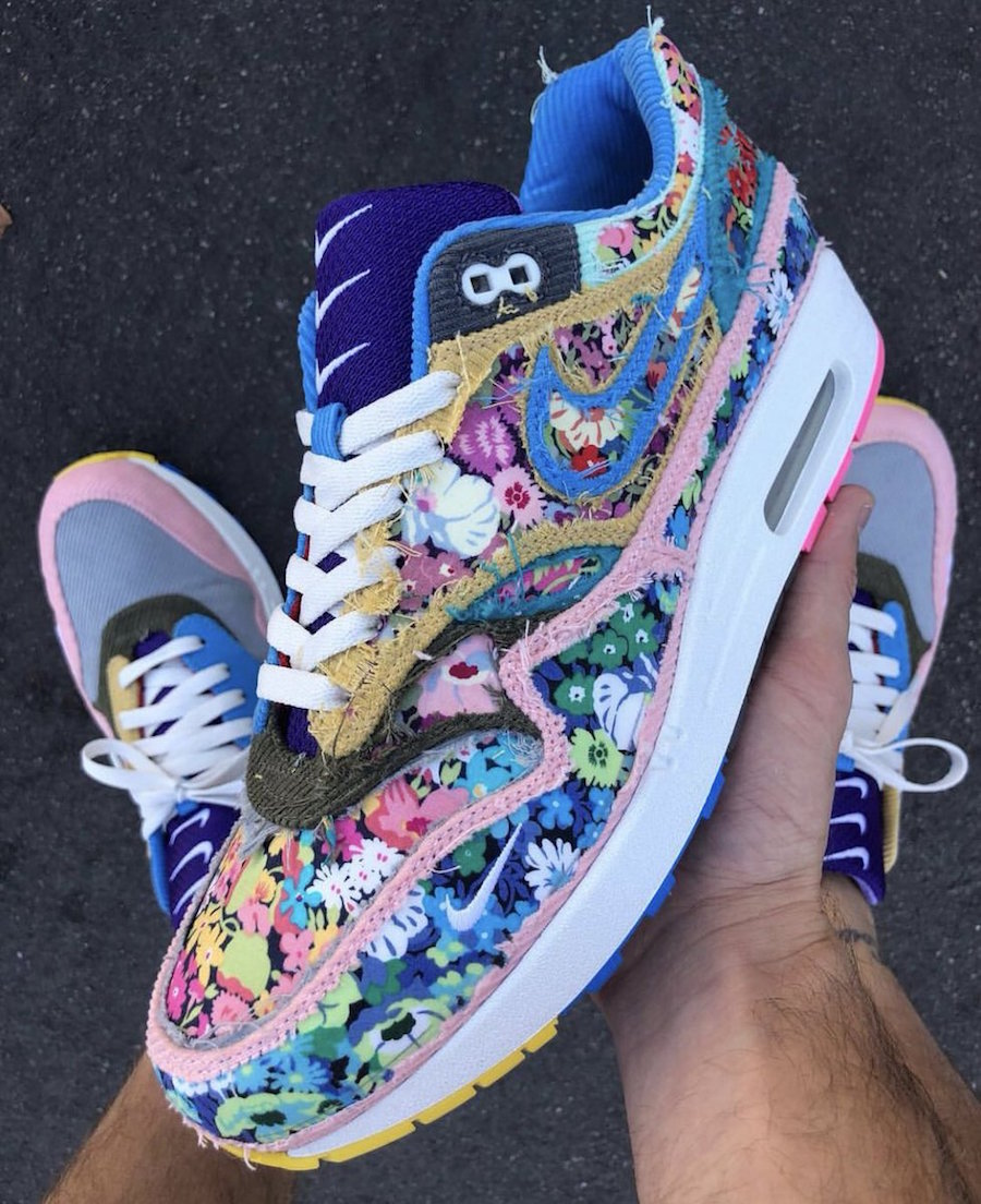 Sean Wotherspoon Bespoke Air Max 1 With Hidden Floral Pattern
