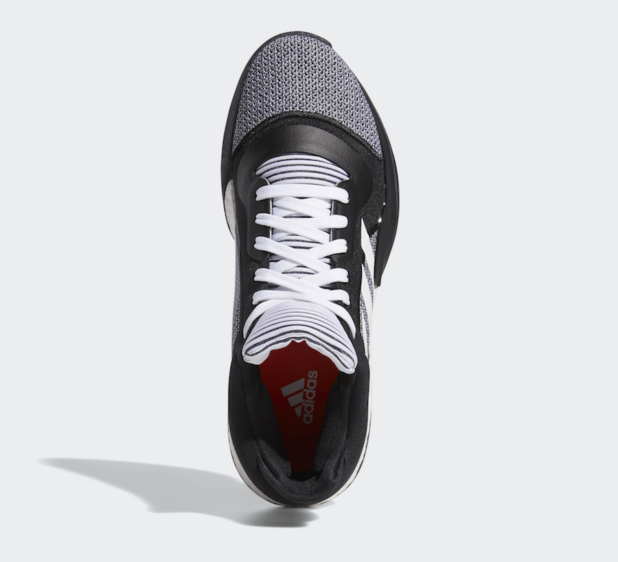 adidas Marquee Boost Low Color  Core Black Cloud White-Solar Red Style  Code  D96931 Release Date  December 1 91834938d1ec