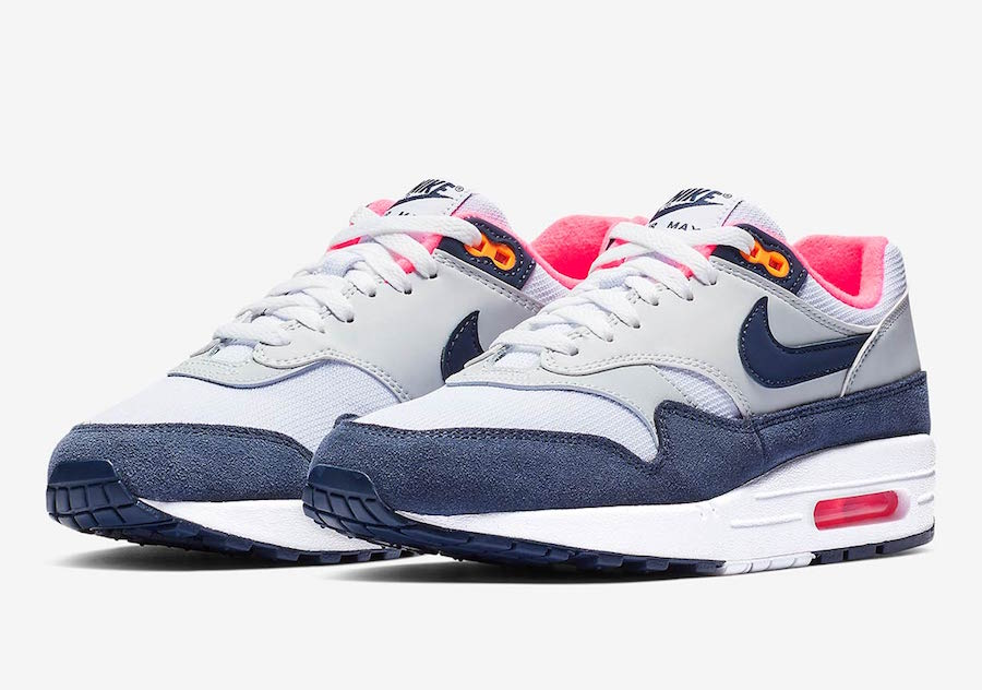 Nike Air Max 1 In Midnight Navy and Hot