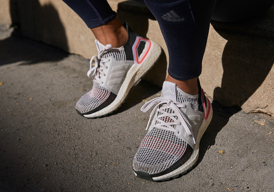c93a6de521f adidas Ultra Boost 2019. Color  Cloud White Chalk White-Active Red Style  Code  B37703 Release Date  December 15