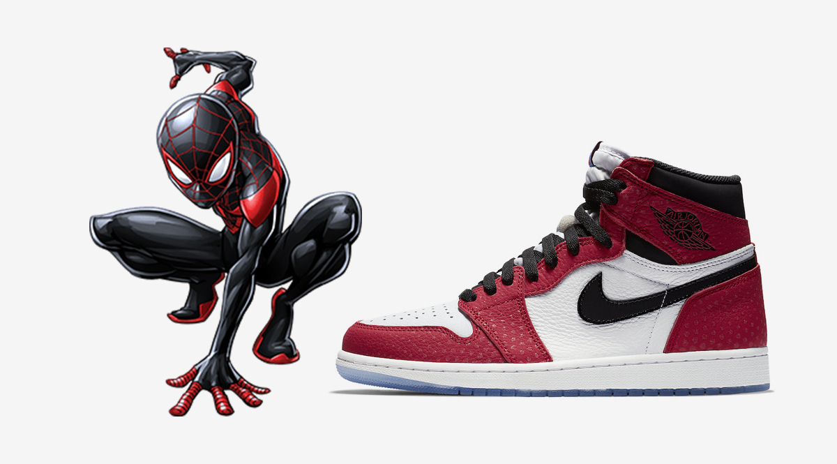 the best attitude 642ca 7e1f0 Jordan Brand will be releasing an Air Jordan 1 as a nod to Miles Morales in  Spider-Man  Into the Spider-Verse film.