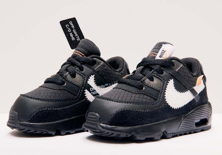 on sale 60cdf 2c2cc Off-White x Nike Air Max 90 Releasing in Kids Sizes