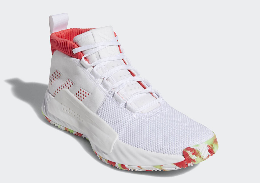 sale retailer 62a0d 87f5b adidas Dame 5. Color Footwear WhiteShock Red-Crystal White Style Code  BB9312 Release Date Spring 2019. Price 115