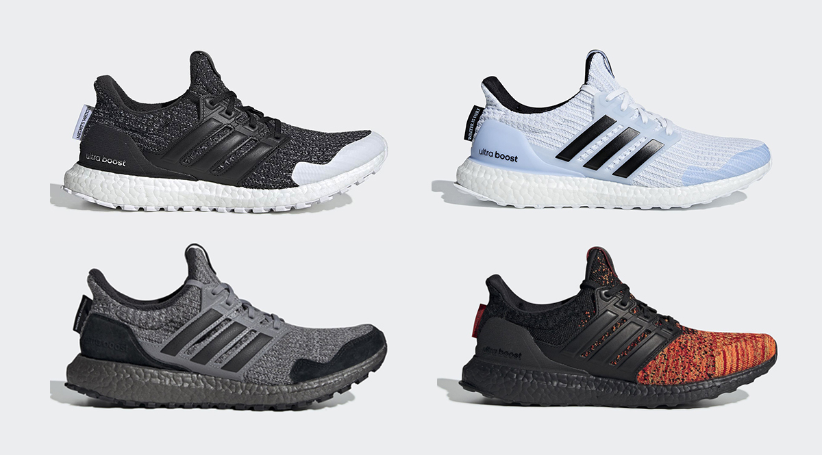 4e6bb2da67173 adidas Running and Game of Thrones will be collaborating on a handful of  GOT inspired colorways set to release this Spring. Night s Watch