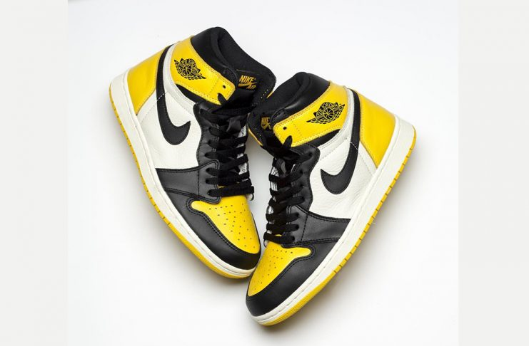 "db5198b8debd Air Jordan 1 High ""Yellow Black Toe"""