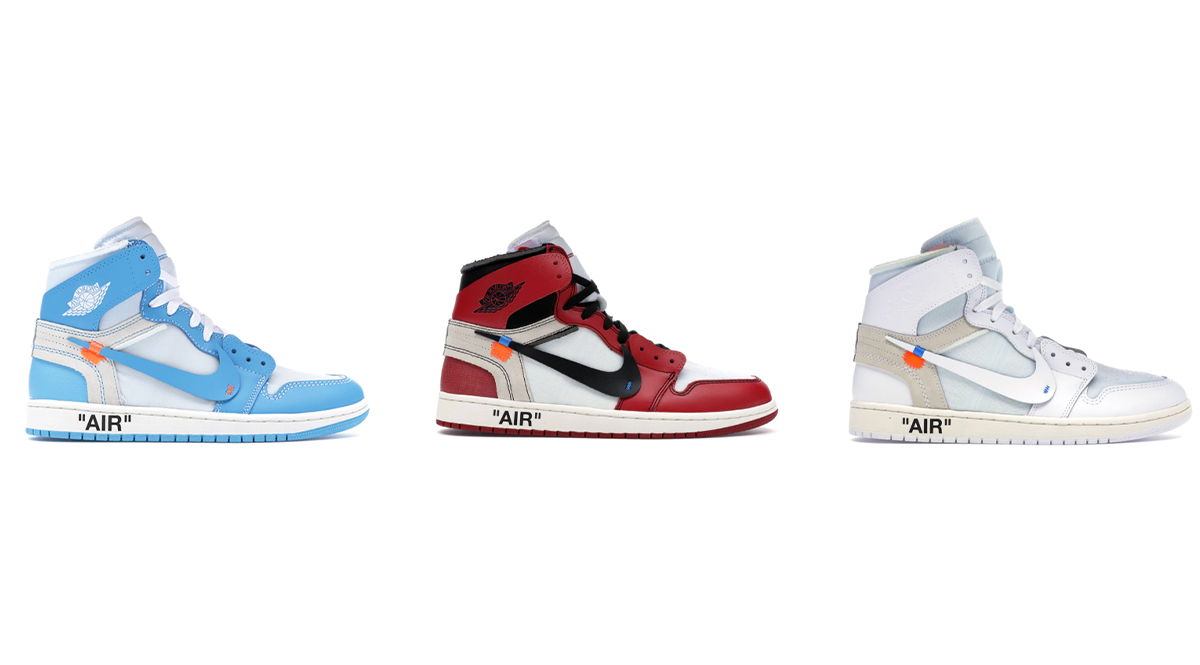 "a89e3538af9 ... released Off-White x Air Jordan 1 colorways are returning later this  year, this time in toddler sizing. The University of North Carolina themed  ""UNC"", ..."