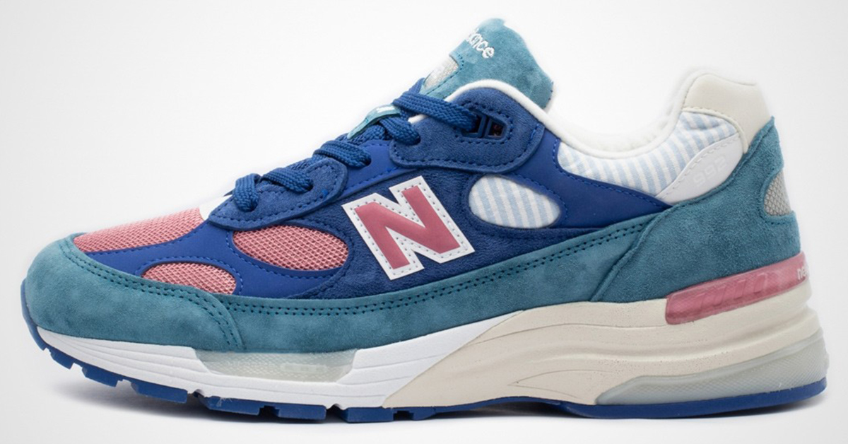 The New Balance 992 Arrives In Summer Pink & Blue Colorway