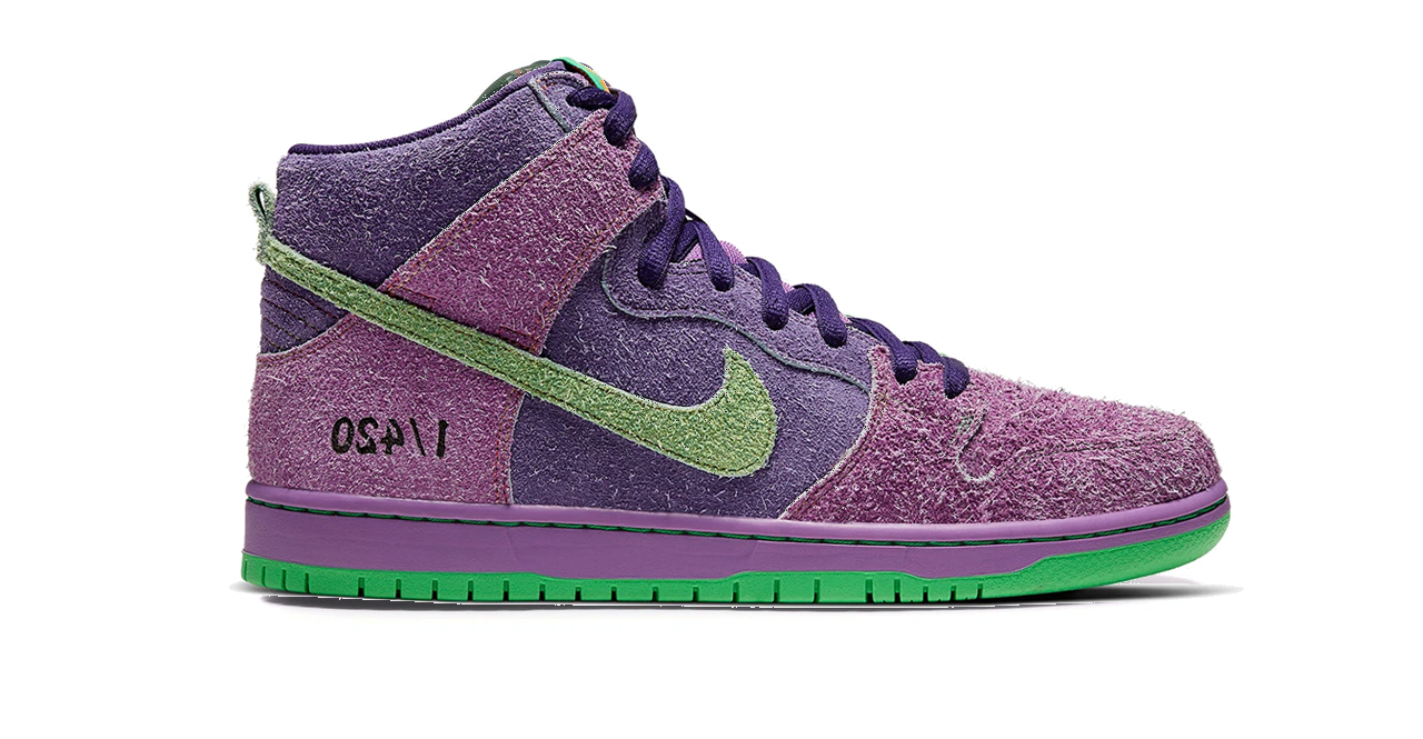 nike sb dunk high purple skunk