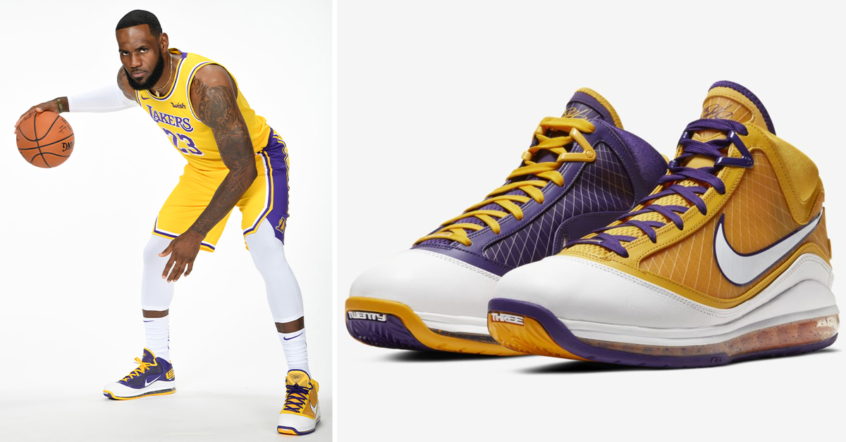 Nike Lebron 7 Media Day Dropping In Lakers Colorway