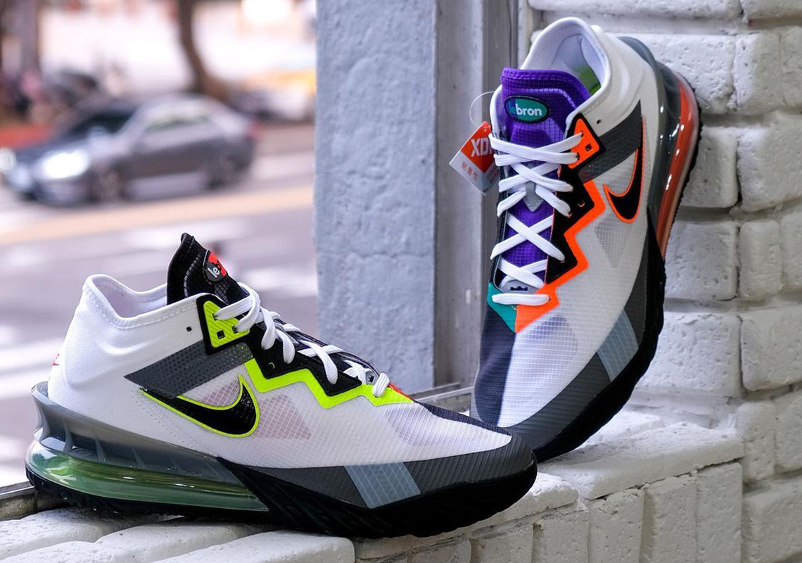 """Nike LeBron 18 Low Arrives in Air Max-Inspired """"Greedy"""" Colorway"""