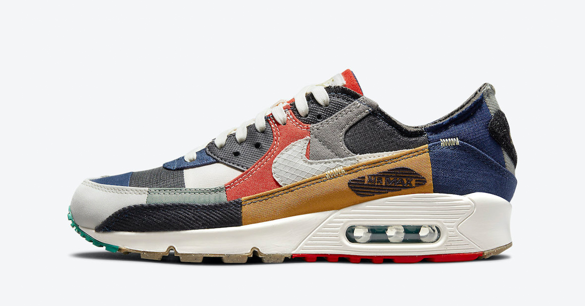 """Nike Adds the Air Max 90 """"Scrap"""" to its Move To Zero Lineup"""